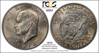1974 Eisenhower PCGS MS65 25689292 Strike-Thru o-r.jpg
